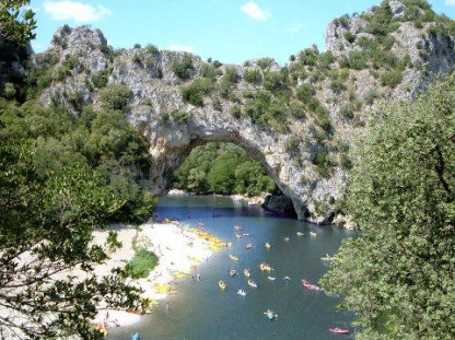 The Pont d'Arc in the Ardèche gorges