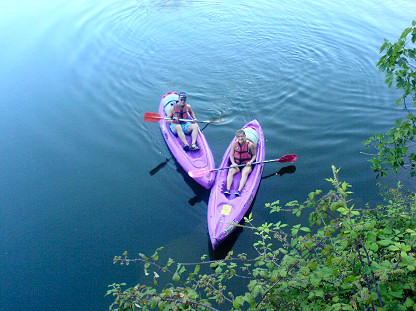Two quiet canoe on the Ardèche